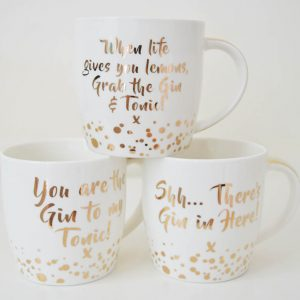 Gin & Tonic Set Of 3 Alcohol Themed Mugs