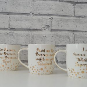 Prosecco Set Of 3 Alcohol Themed Mugs